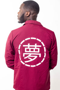 Mens Burgundy Jacket - Ukiyo LDN