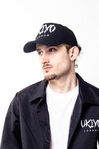 Black Distressed Hat - Ukiyo LDN