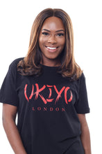 Load image into Gallery viewer, Womens Black (Red) Long Line Tee - Ukiyo LDN