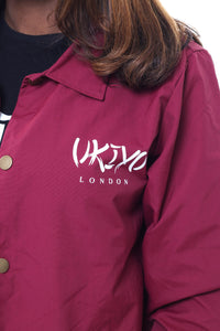 Womens Burgundy Jacket - Ukiyo LDN