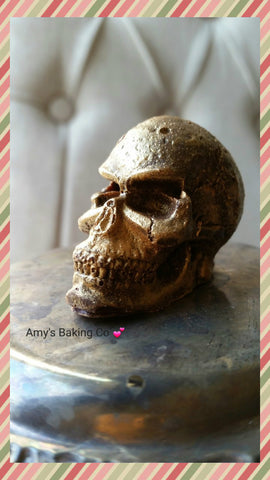 Chocolate Skulls  with Pomegranate Fruit Jelly Brain