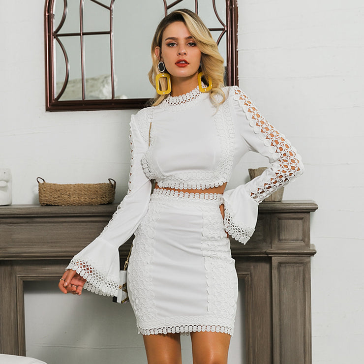 Lace White Mini Dress