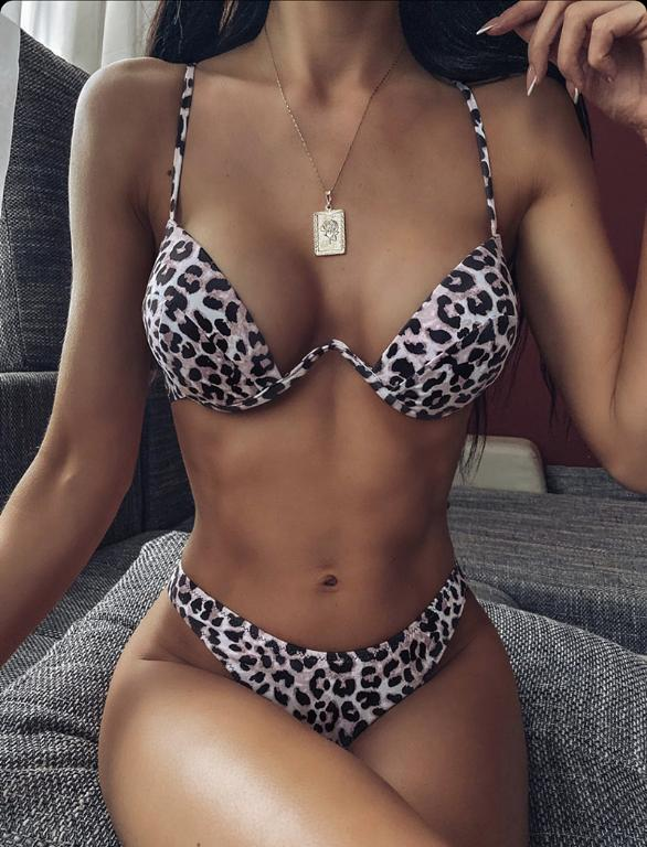 Solid And Sexy Deep V Push Up Bikini