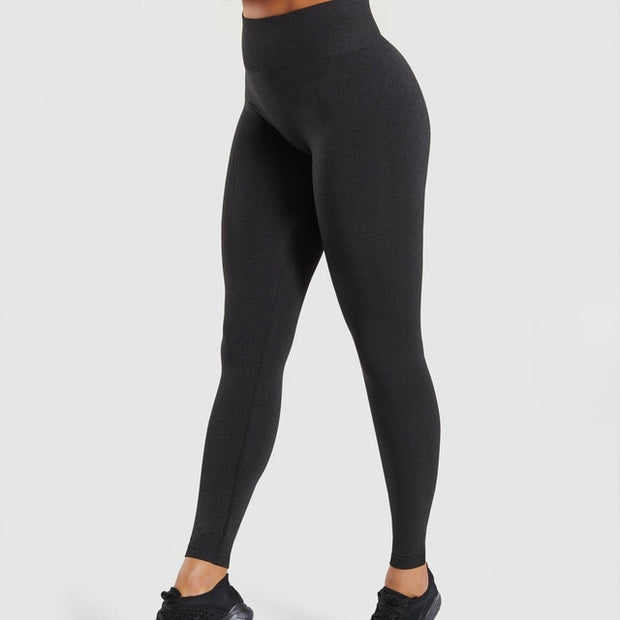 Classy High Waisted Monochromatic Gym Wear