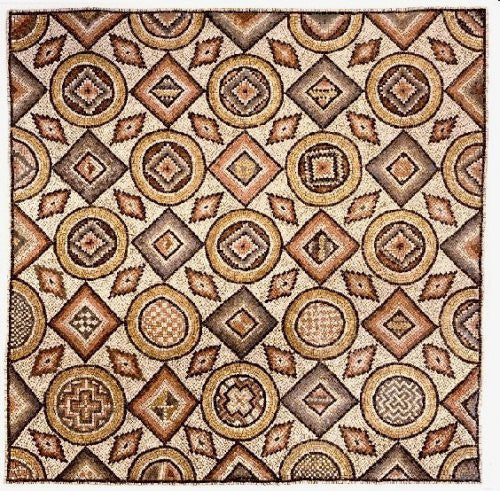 ROMAN MOSAIC WITH GEOMETRIC DESIGN, 3RD - 4TH CENTURY A.D.
