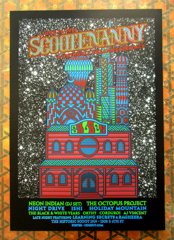 Scootenanny Poster ft. Neon Indian and The Octopus Project