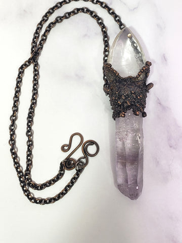 Vera Cruz Amethyst and Clear Quartz Wand