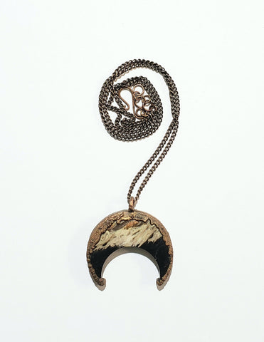 Fossil Palm Root Crescent Moon
