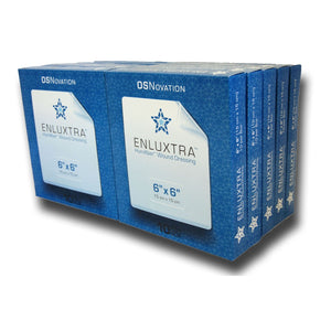 "ENLUXTRA Self-Adaptive Wound Dressing 6""x 6""(15x15cm) Case of 20 Boxes = 100 Dressings AWD-5-1515C (Est. ship date 11/23/20)"