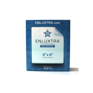 "ENLUXTRA Self-Adaptive Wound Dressing 4""x 4""(10x10cm) Box of 10 Dressings AWD-5-1010"