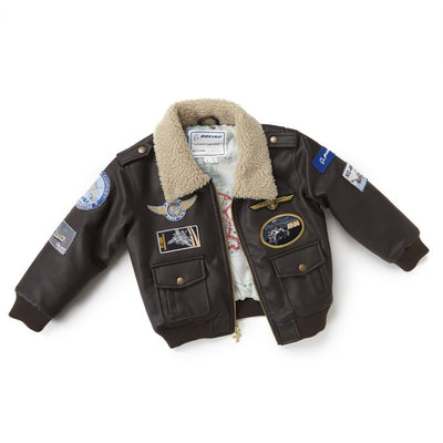 Boeing Kids Aviator Jacket - Brown