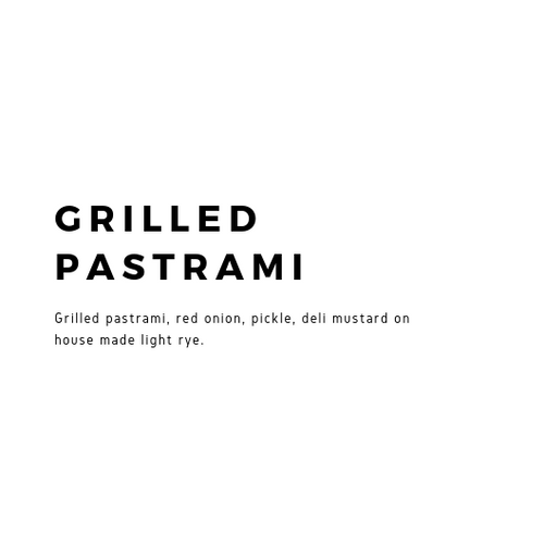 Grilled Pastrami