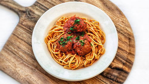 Whole Wheat Spaghetti W/ Meatballs
