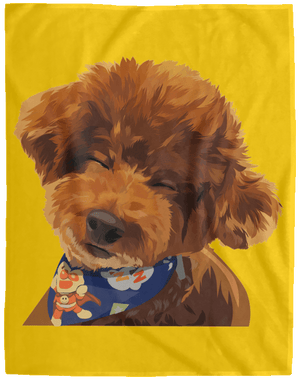 VPL Cozy Plush Fleece Blanket - 60x80 Blankets thepetcompanystore Athletic Gold One Size