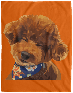 VPL Cozy Plush Fleece Blanket - 60x80 Blankets thepetcompanystore Burnt Orange One Size