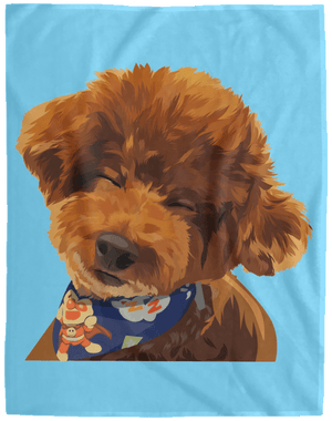 VPL Cozy Plush Fleece Blanket - 60x80 Blankets thepetcompanystore Columbia Blue One Size