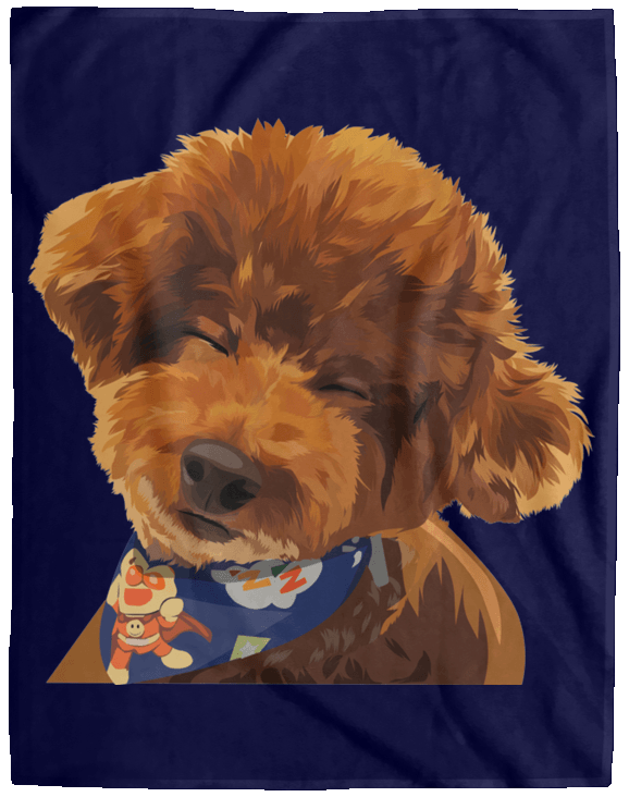 VPL Cozy Plush Fleece Blanket - 60x80 Blankets thepetcompanystore Navy One Size
