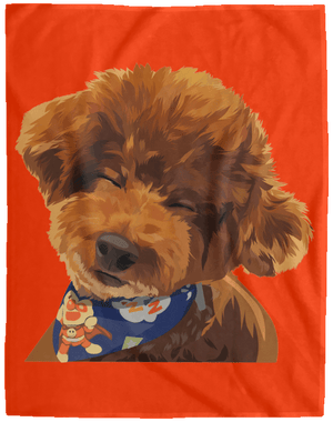 VPL Cozy Plush Fleece Blanket - 60x80 Blankets thepetcompanystore Orange One Size