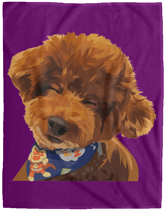 VPL Cozy Plush Fleece Blanket - 60x80 Blankets thepetcompanystore Purple One Size