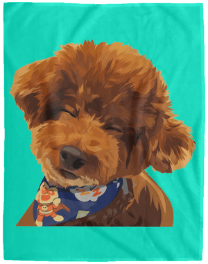 VPL Cozy Plush Fleece Blanket - 60x80 Blankets thepetcompanystore Teal One Size