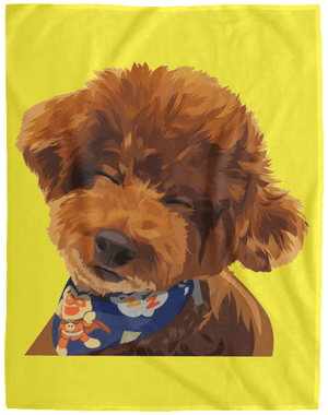 VPL Cozy Plush Fleece Blanket - 60x80 Blankets thepetcompanystore Yellow One Size