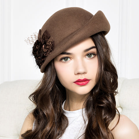 Flower Beret Formal Banquet Hat