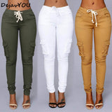 Candy Colors Elastic Skinny Pencil Legging Jeans Women