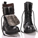 Leather British Military Combat Boots