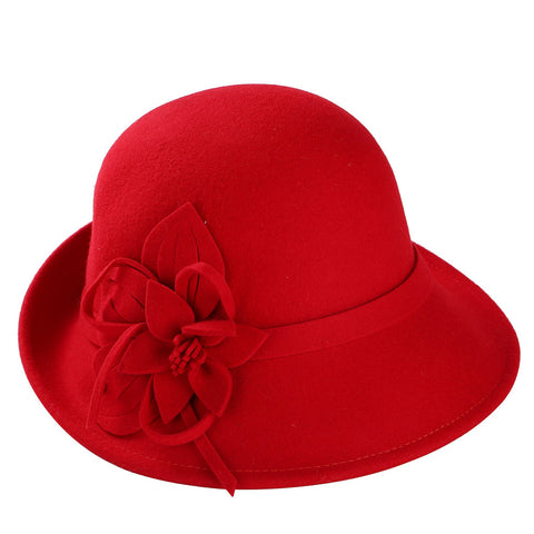 England Style Ladies Wool Fedoras Hats