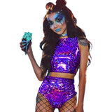 Festival Queen Holographic Two-Piece Set