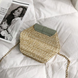 Hexagon style handbag