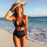 High Waist Bikini 2018 Sexy Lace Side Swimwear Women