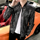 Men Bomber Jacket Long Sleeve Summer