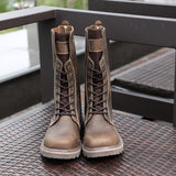 Retro Classic Motorcycle Boots