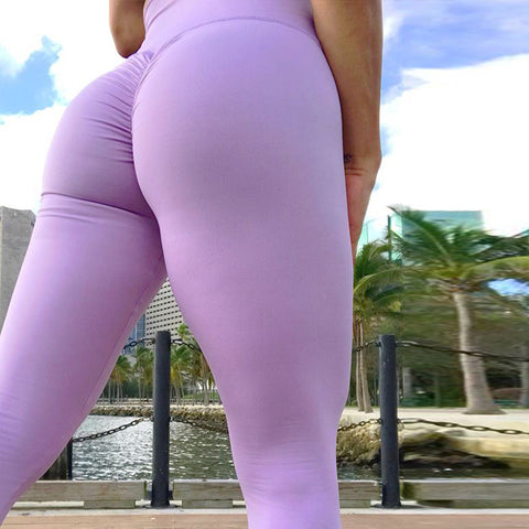 New Women Yoga Pants High Elastic Scrunch