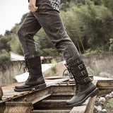 British Metal Military Motorcycle Boots