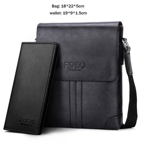 POLO Durable Leather Men Messenger Bags