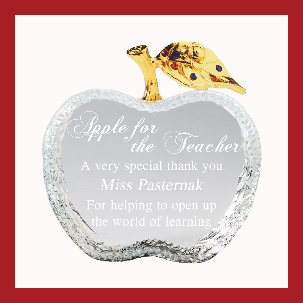 Crystal Teacher's Apple