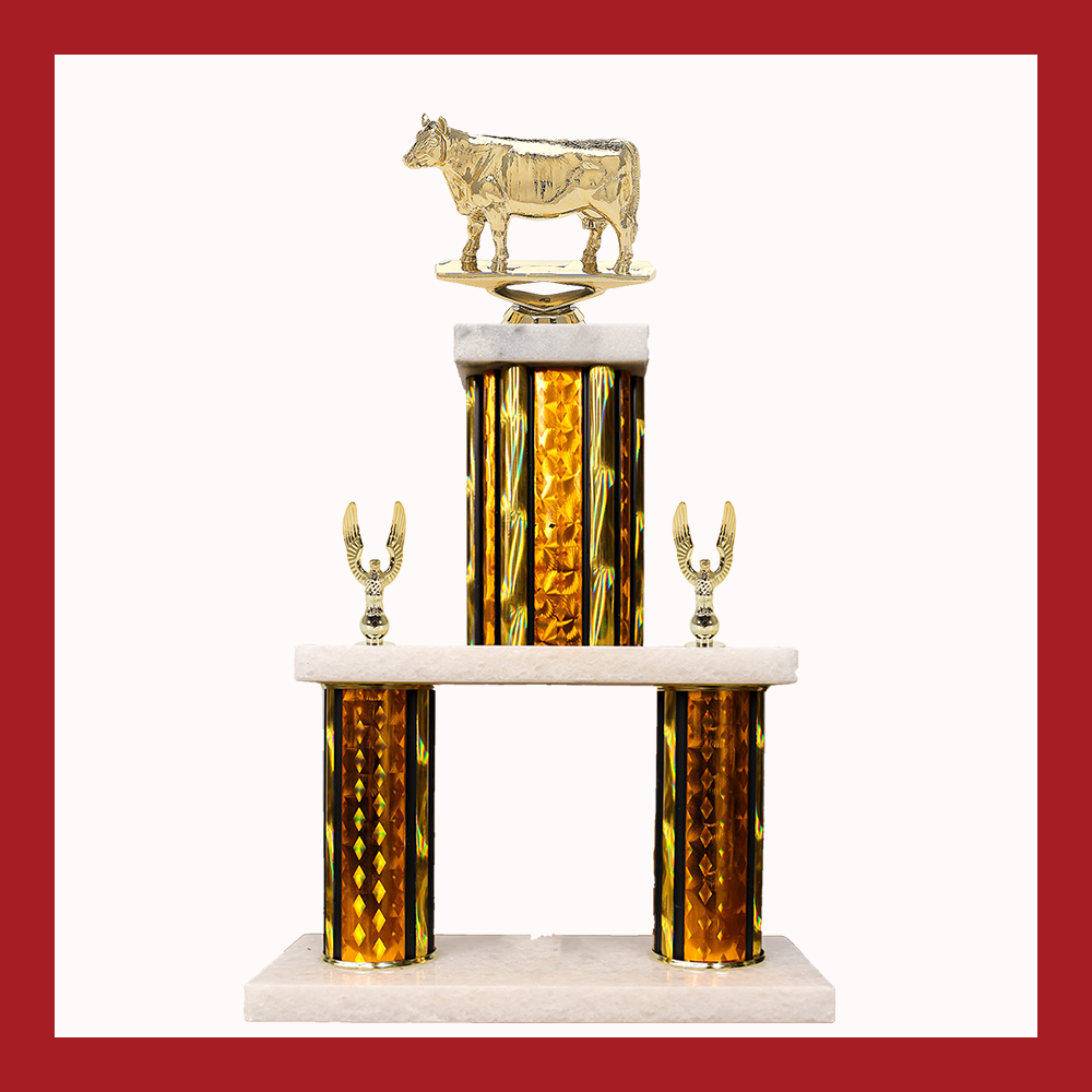 4H & Animal Marble Mini Two Trophy
