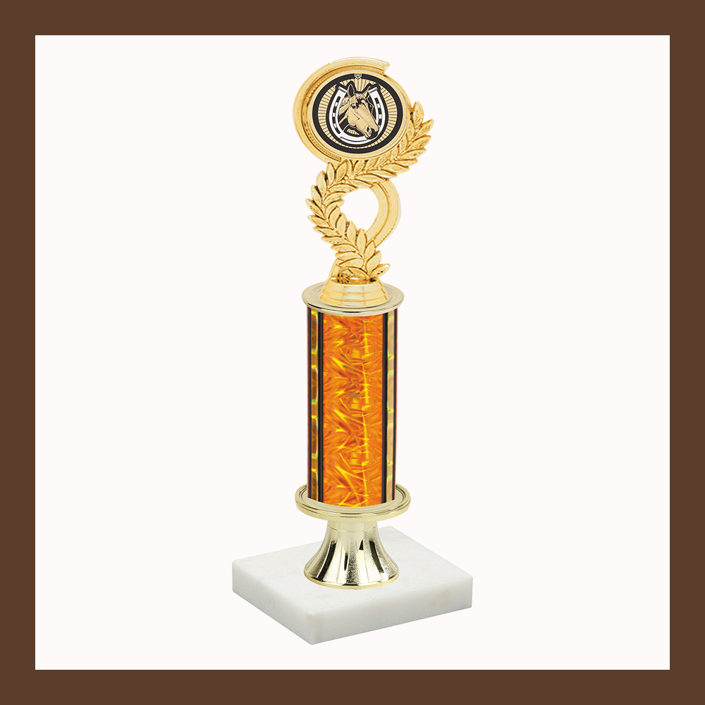 4-H & Animal Laurel Mylar Pedestal Trophy