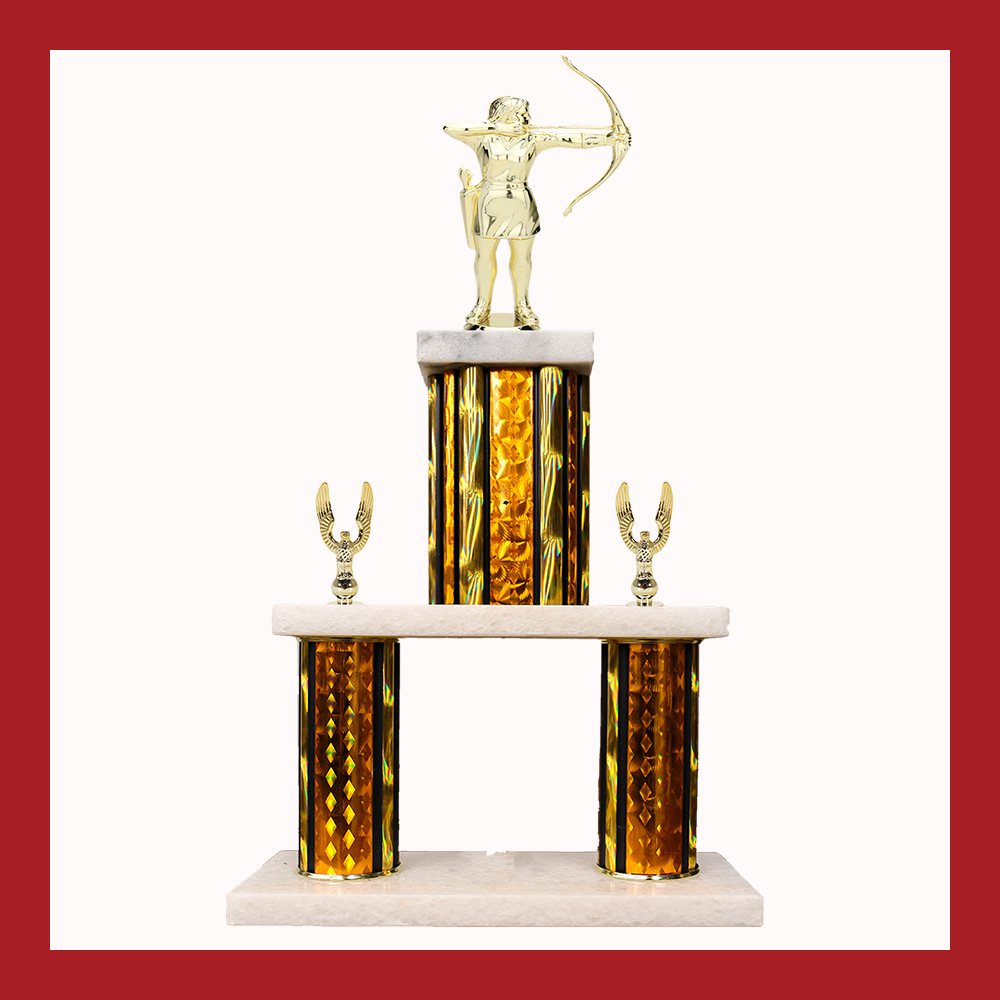 Archery Marble Mini Two Poster Trophy