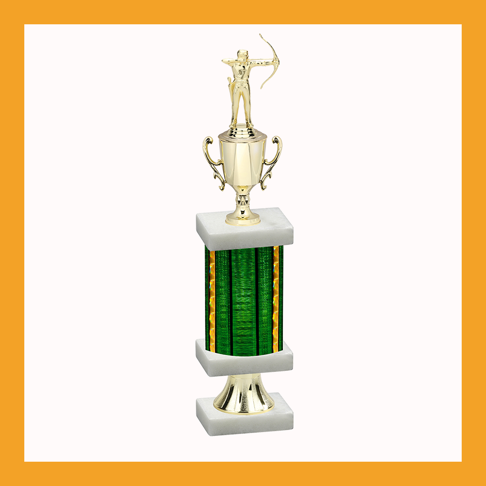Archery Column Pedestal Trophy With Cup
