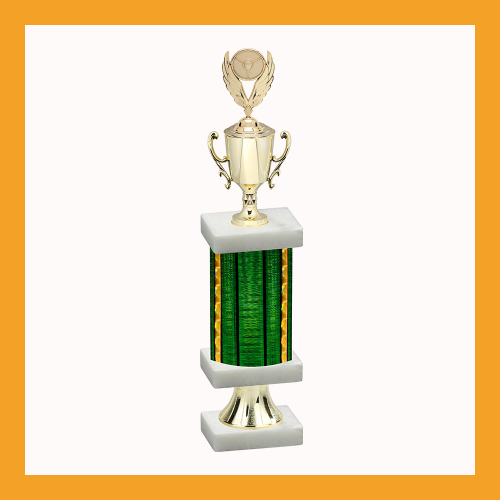 Racing Column Pedestal Trophy With Cup