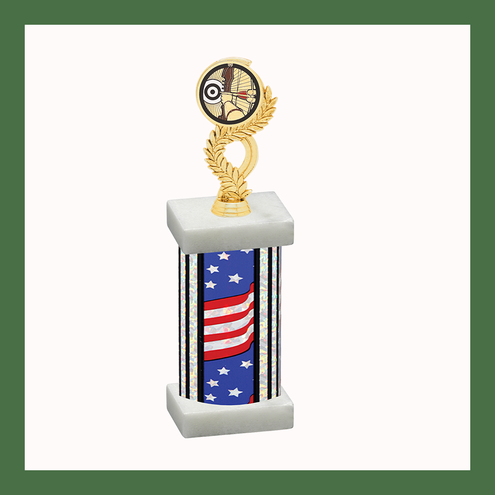 Archery Laurel Mylar Column Trophy