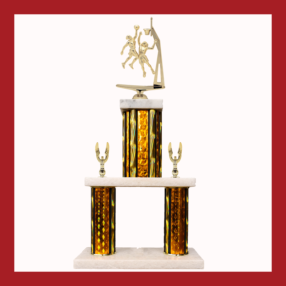 Basketball Marble Mini Two Poster Trophy