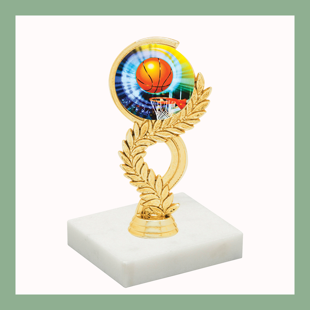 Basketball Laurel Mylar Figurine Trophy