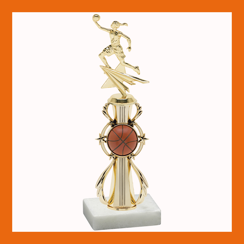 Basketball Retro Riser Trophy