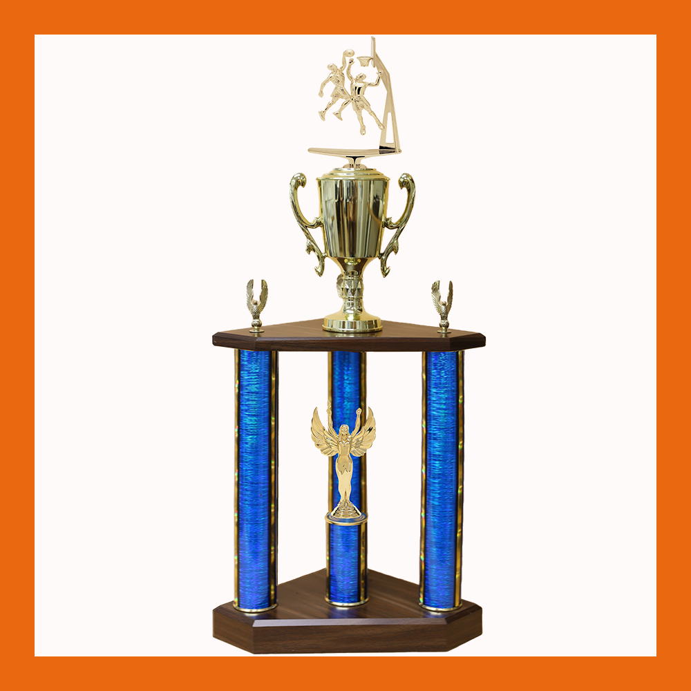 Basketball Marble Three Poster Trophy