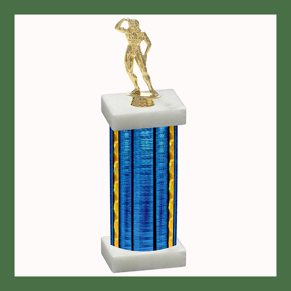 Body Building Column Trophy
