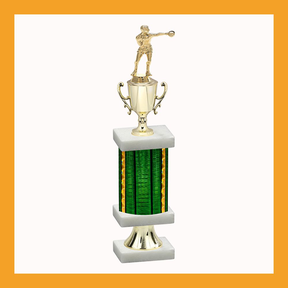 Boxing Column Pedestal Trophy With Cup